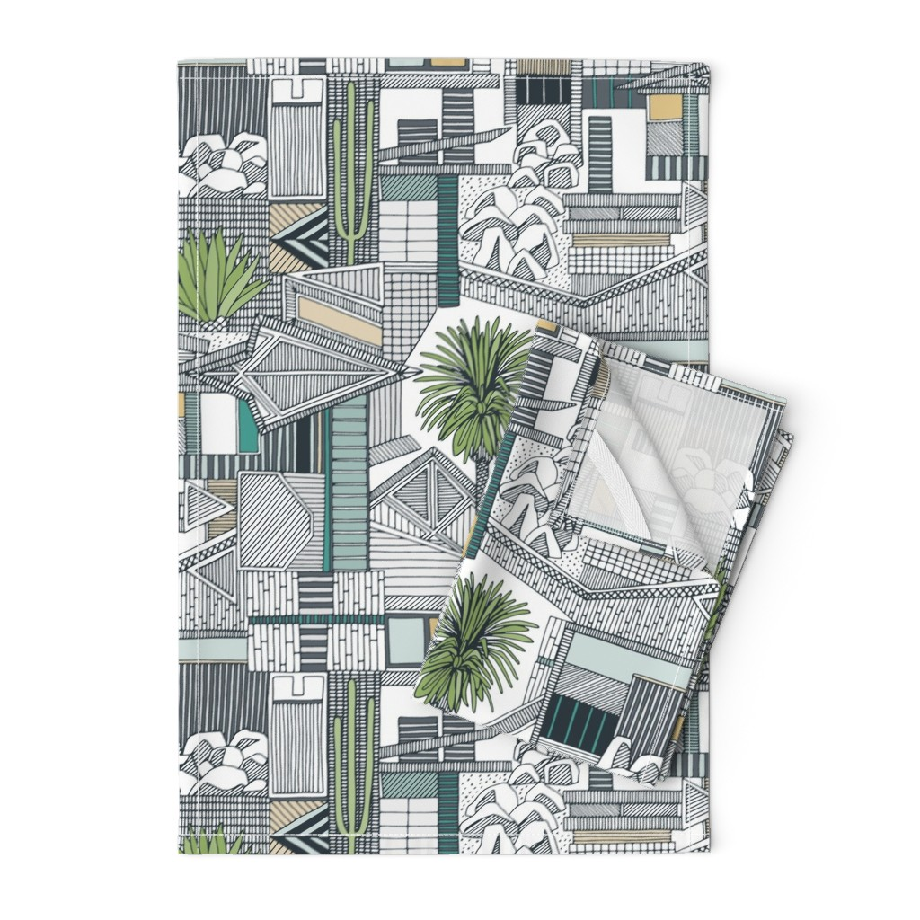 Orpington Tea Towels featuring sonoran by scrummy