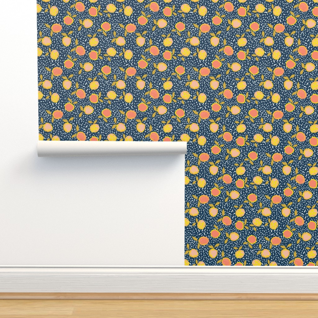 Isobar Durable Wallpaper featuring Orange by susanna_nousiainen