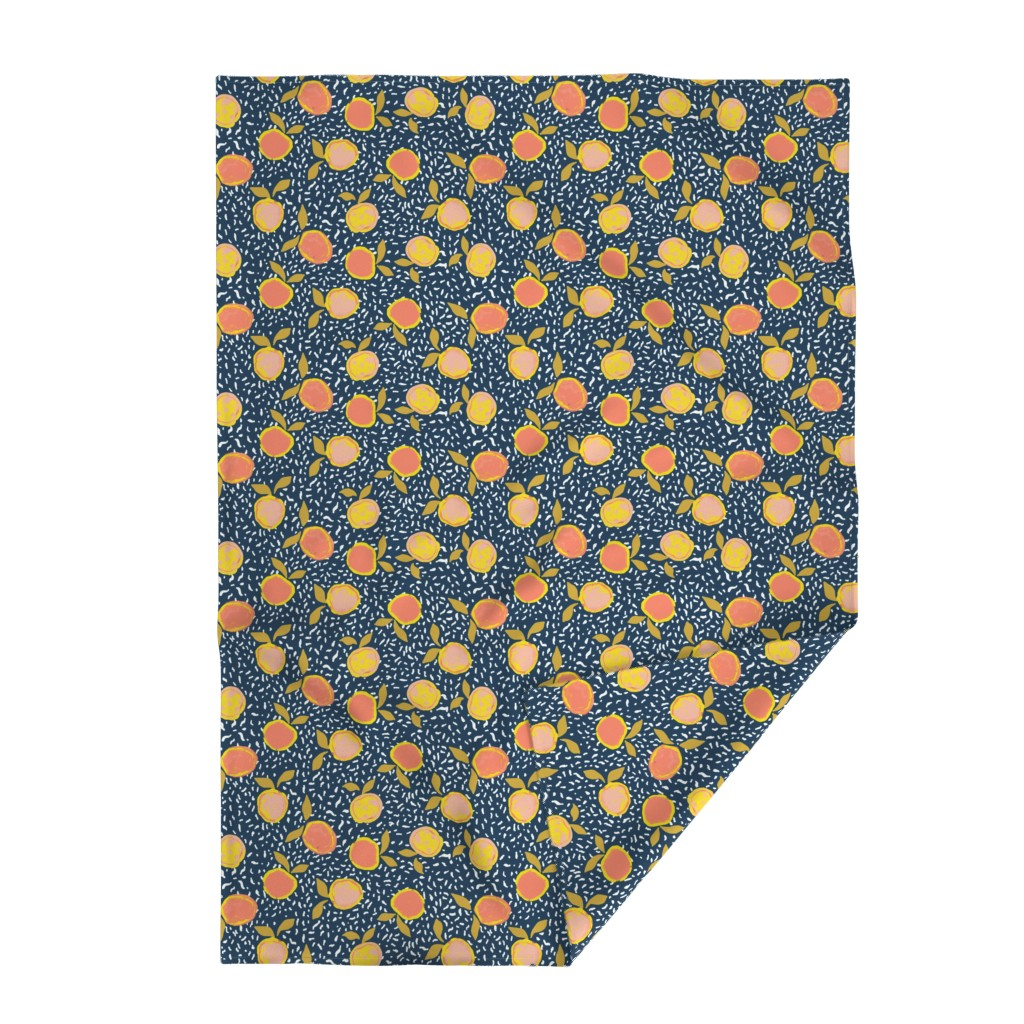 Lakenvelder Throw Blanket featuring Orange by susanna_nousiainen