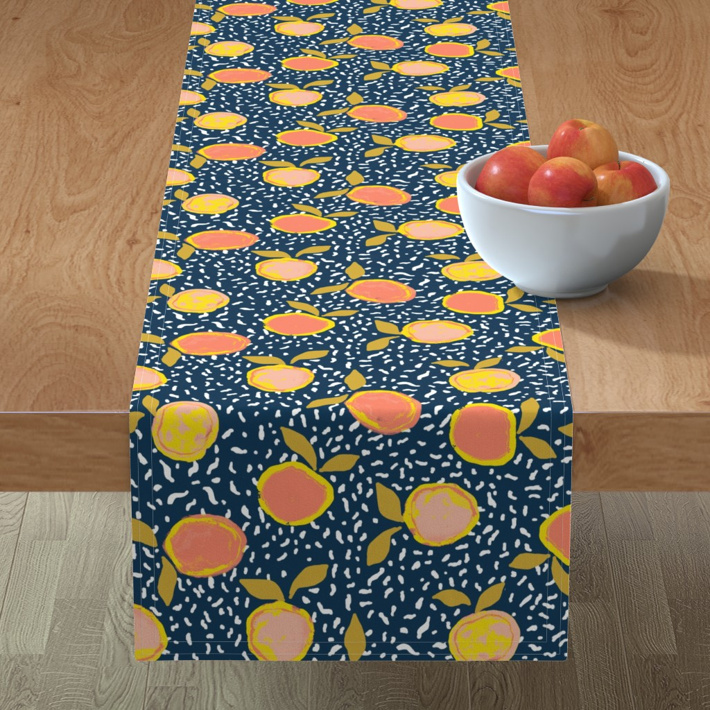 Minorca Table Runner featuring Orange by susanna_nousiainen