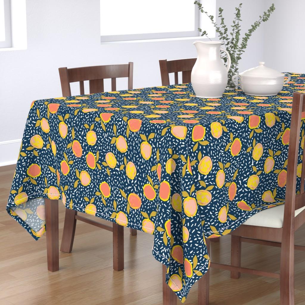 Bantam Rectangular Tablecloth featuring Orange by susanna_nousiainen