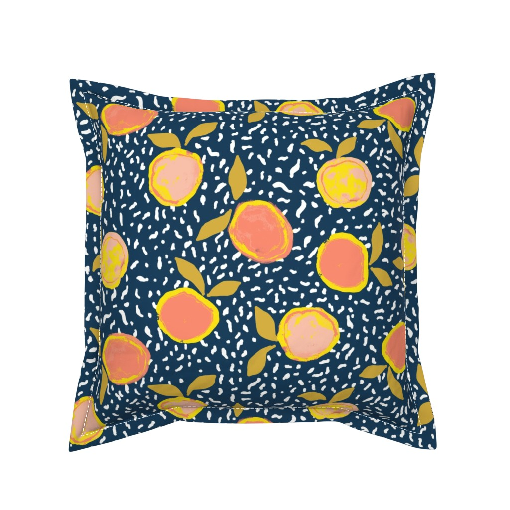 Serama Throw Pillow featuring Orange by susanna_nousiainen