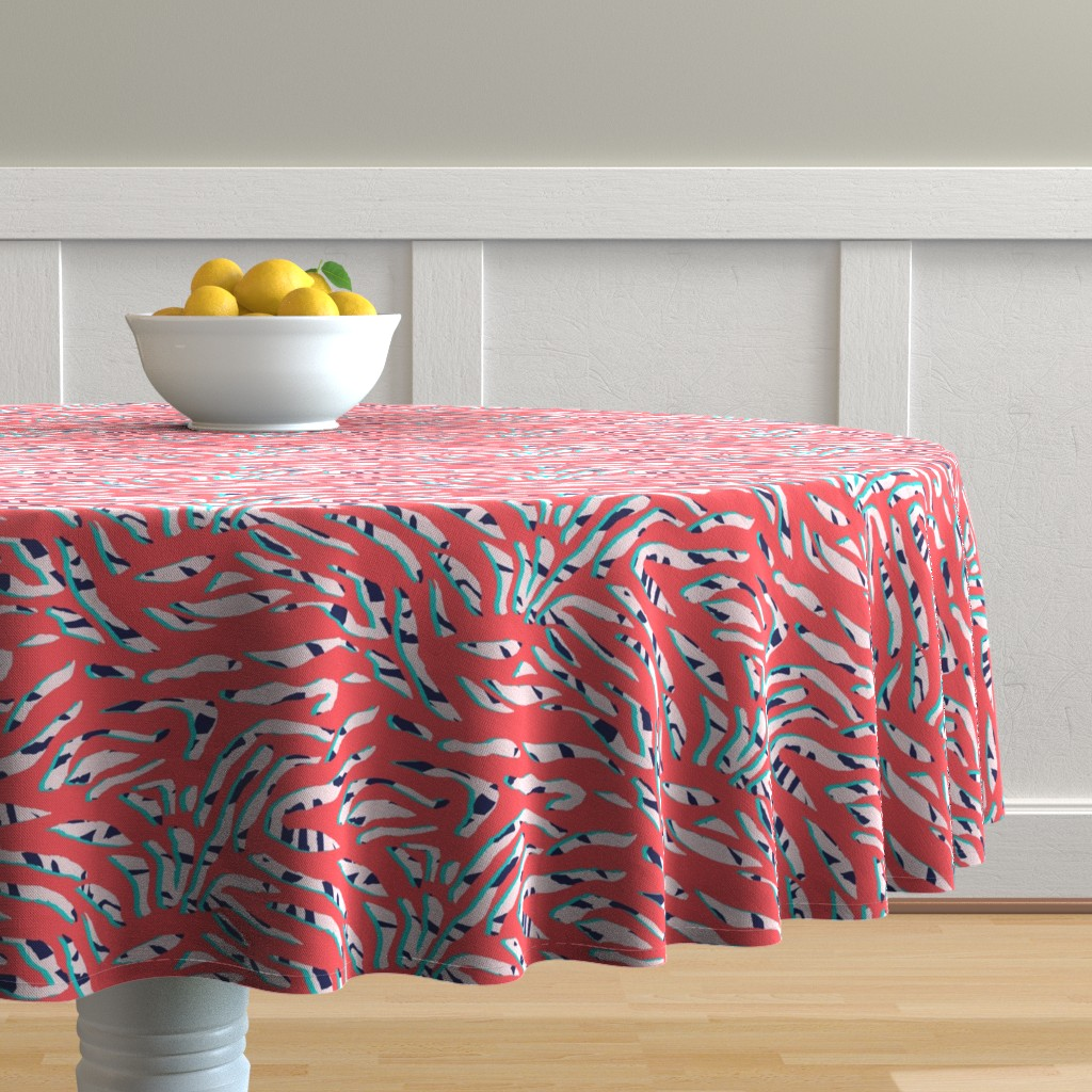 Malay Round Tablecloth featuring ZeepraII by susanna_nousiainen