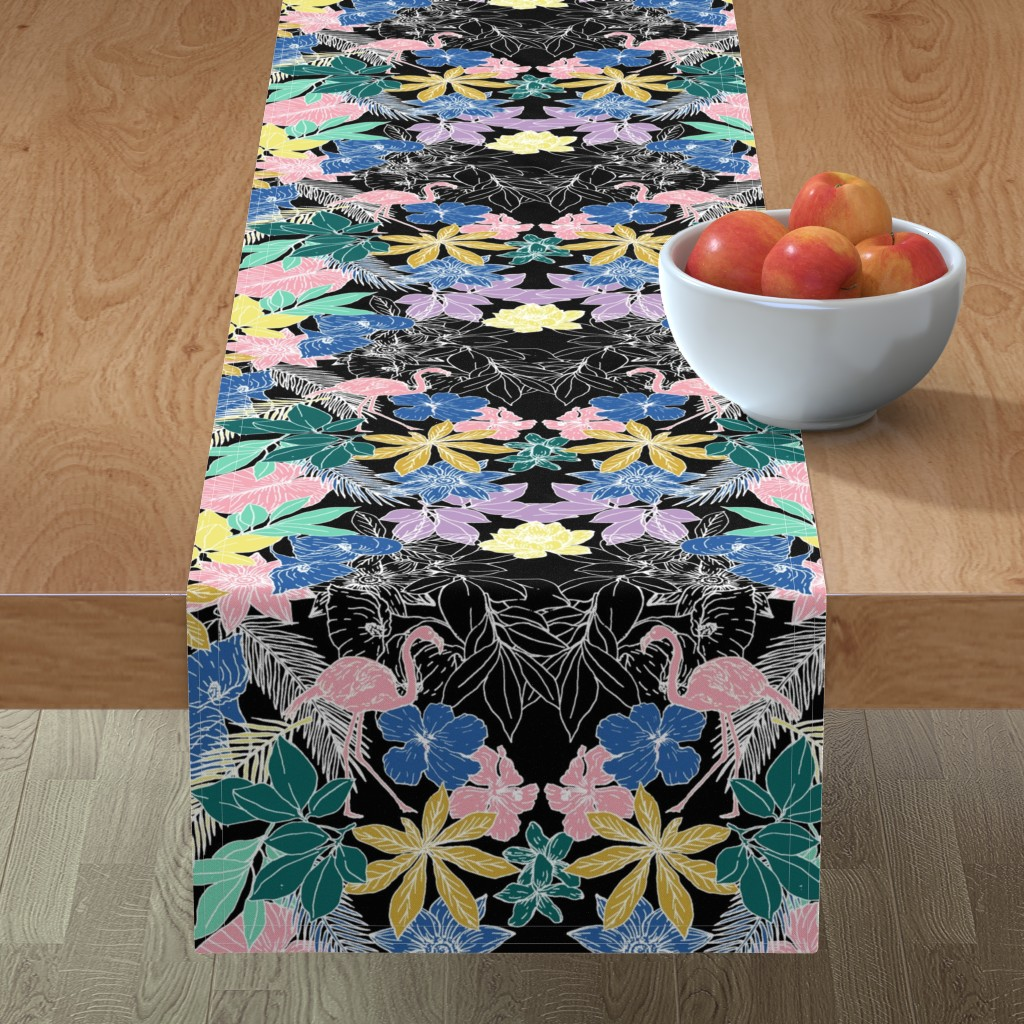 Minorca Table Runner featuring Flamingo by susanna_nousiainen