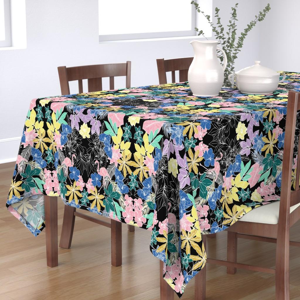 Bantam Rectangular Tablecloth featuring Flamingo by susanna_nousiainen