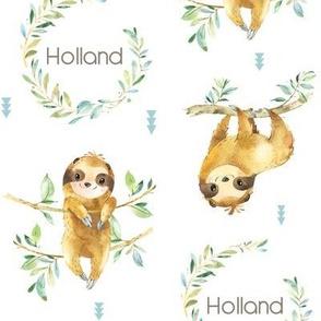 Custom Name - Holland (sloth, jungle animal, rain forest)