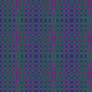 Green, Red and Purple Square Geometric