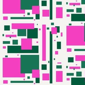 green pink mod rectangles