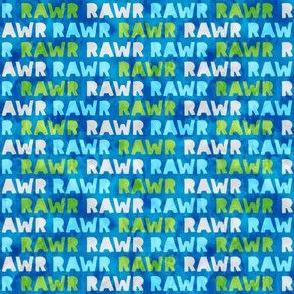 (micro scale) RAWR - Dinosaur - blue - dino - LAD19 BS