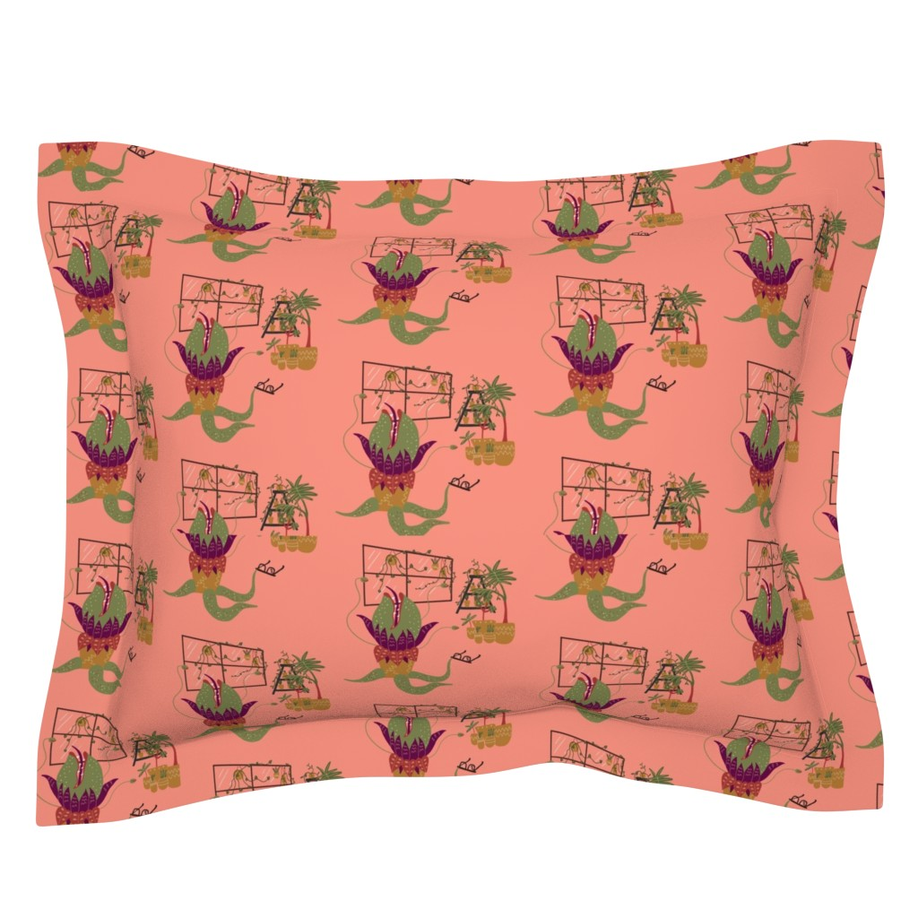 Sebright Pillow Sham featuring Mean and Green by katiemakesadress