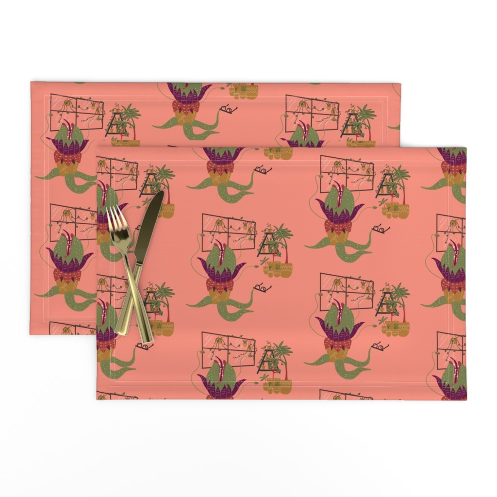 Lamona Cloth Placemats featuring Mean and Green by katiemakesadress