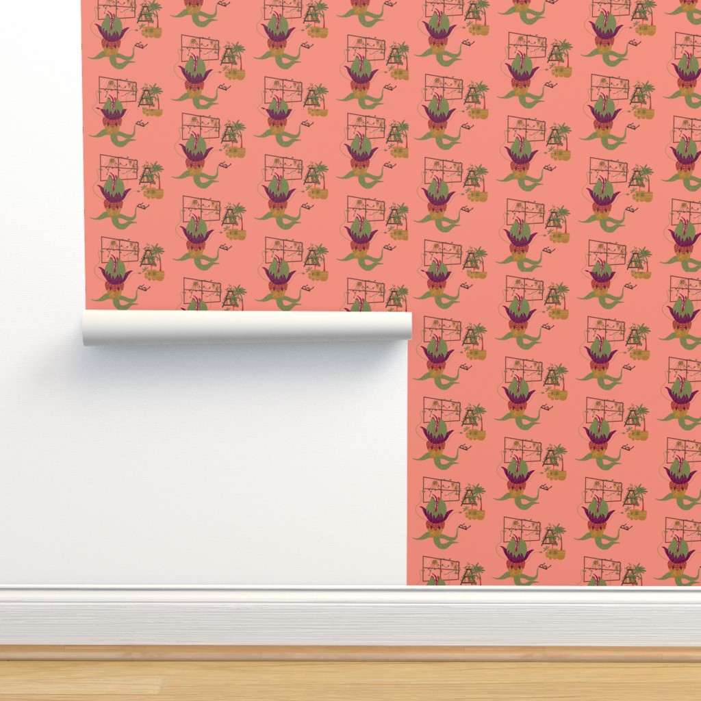 Isobar Durable Wallpaper featuring Mean and Green by katiemakesadress