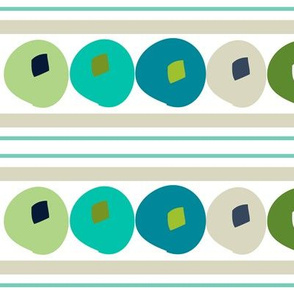 Turquoise beach house dots large