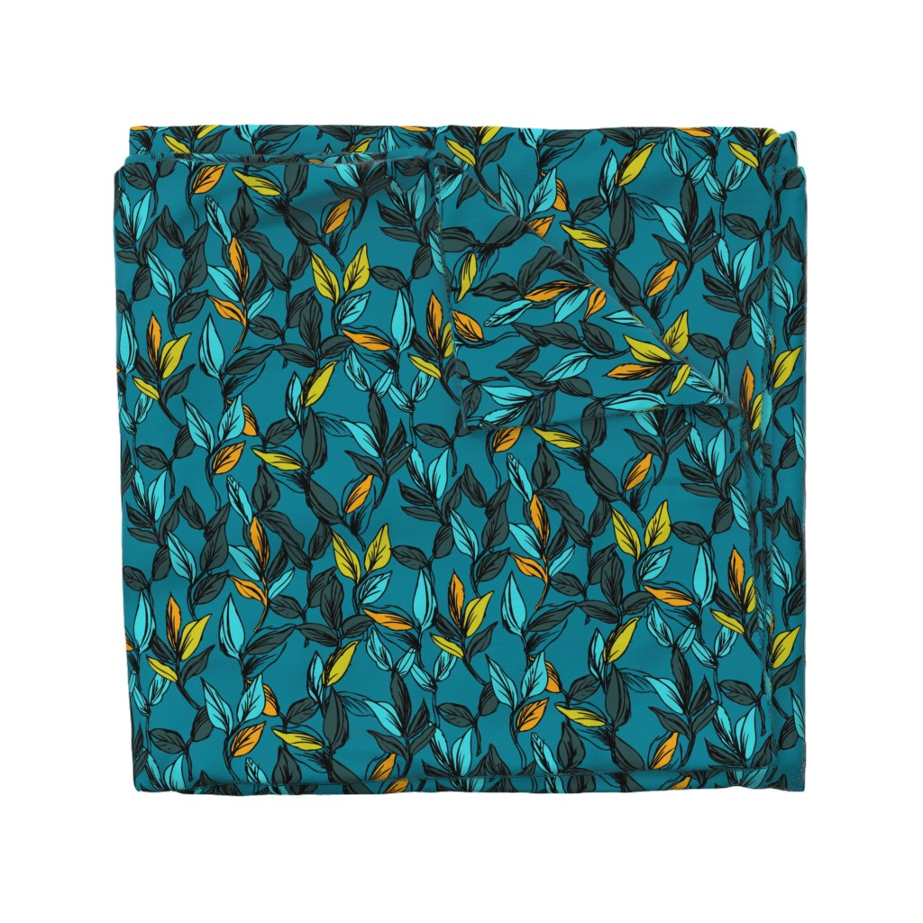 Wyandotte Duvet Cover featuring PatternLeafs by susanna_nousiainen