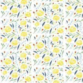 Yellow roses / lemon summer / flowers