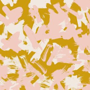 pink mustard brush