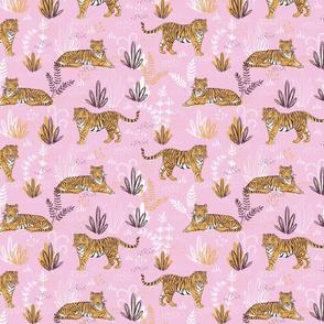 Modern pink tiger pattern