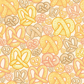 Yummy Pretzels Seamless Pattern