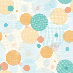 Colorful Fabric Circles