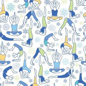 Yoga Poses Blue