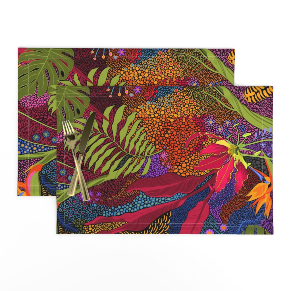 Lamona Cloth Placemats featuring Tiki Tiki by reneeciufo