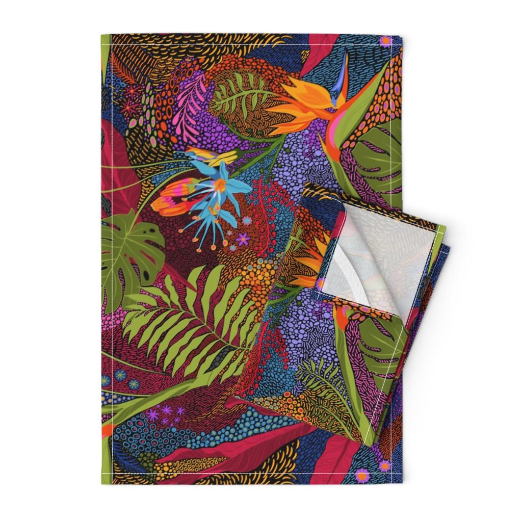 Orpington Tea Towels featuring Tiki Tiki by reneeciufo