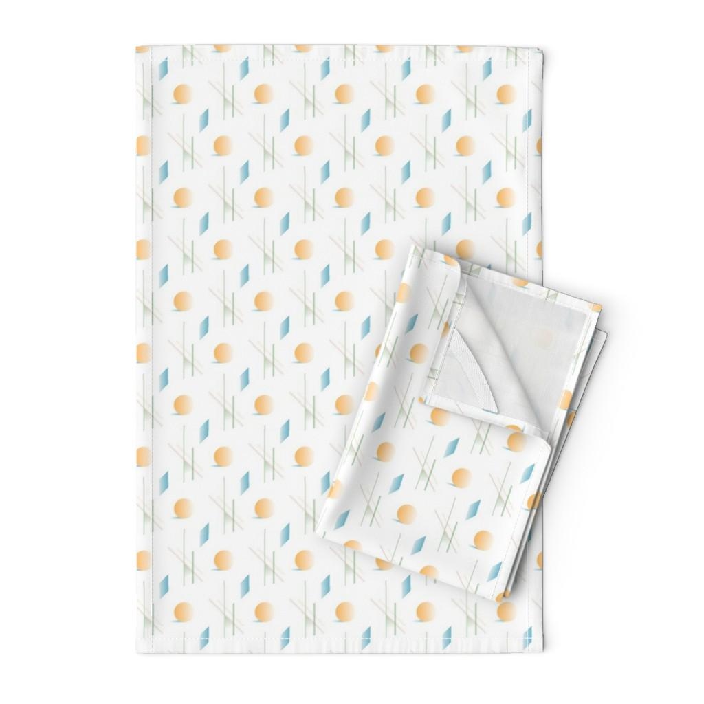 Orpington Tea Towels featuring Desert Modern - Orange by autumn_musick