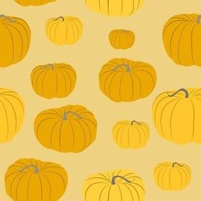 Autumn Pumpkins on Tan