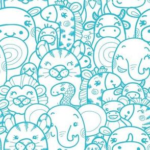 Wild Animals - Blue