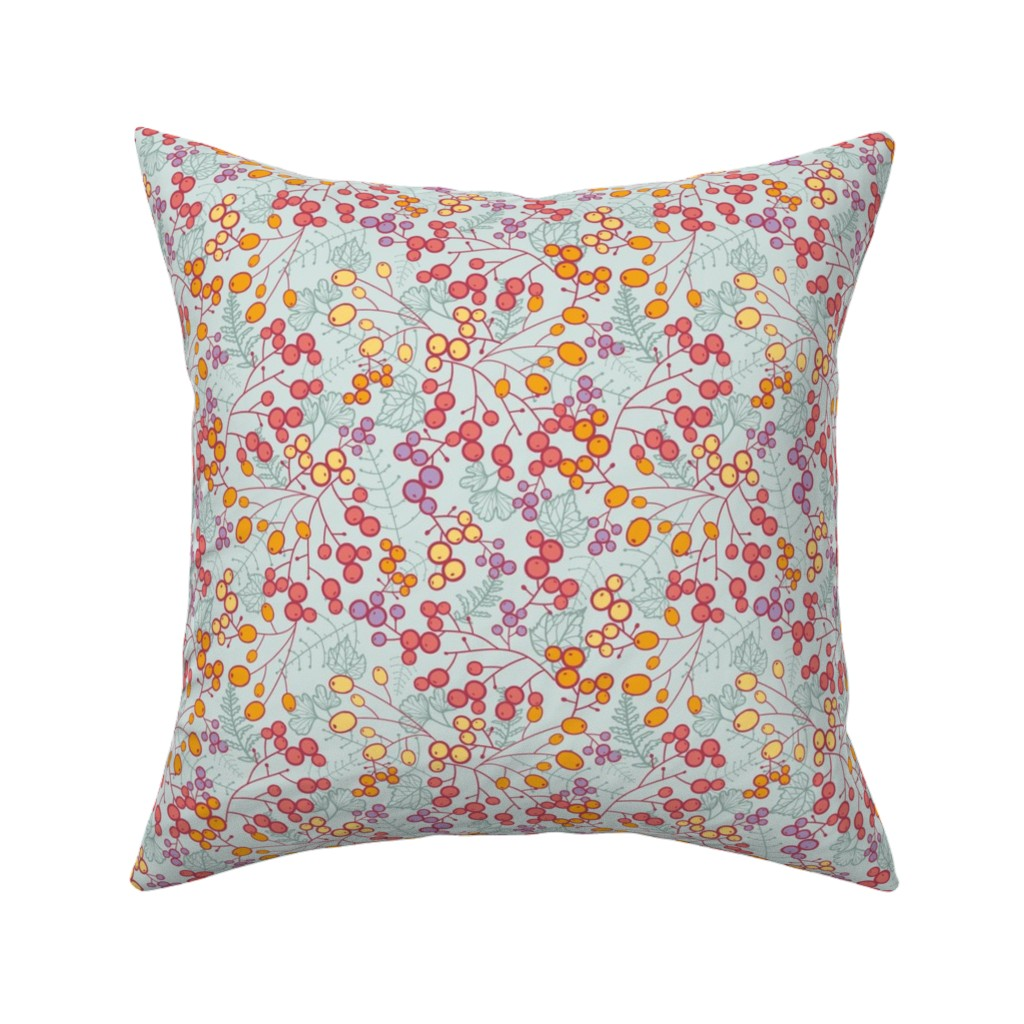 Catalan Throw Pillow featuring Winter Berries by oksancia