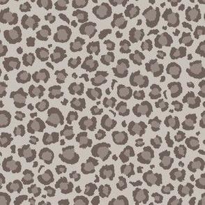 Leopard Spots Print in Warm Grey | Leopard Spots | Animal Print
