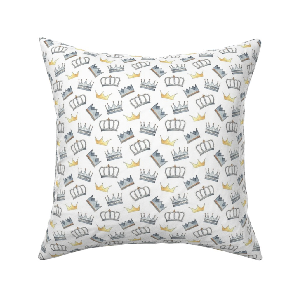 Catalan Throw Pillow featuring Royal Crowns by anniemontgomerydesign