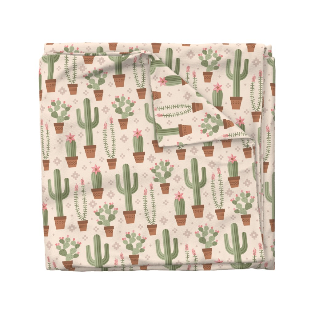 Wyandotte Duvet Cover featuring Desert Cacti by robyriker