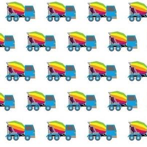 rainbow mixer trucks