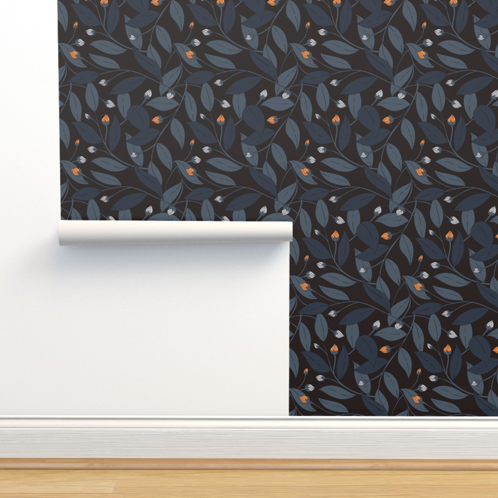 Isobar Durable Wallpaper featuring Bloom in dark by doodlena
