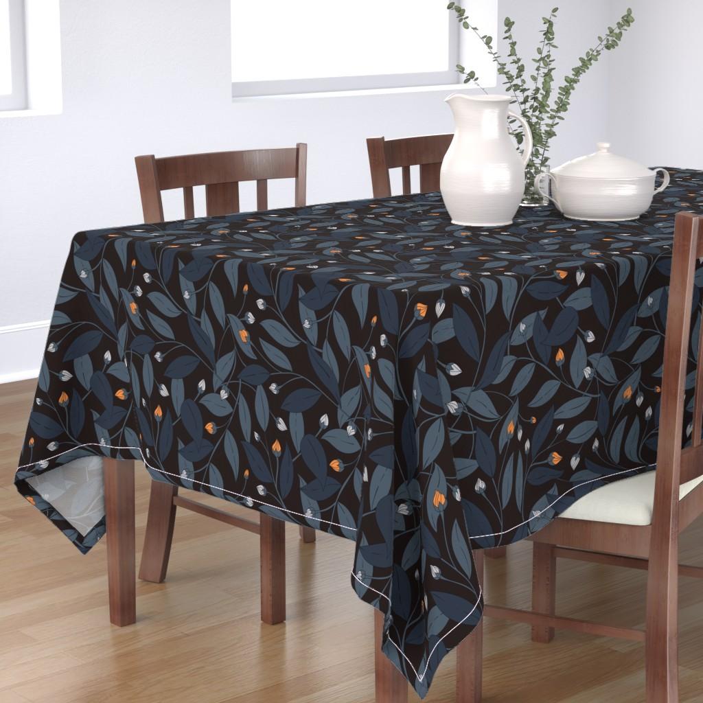Bantam Rectangular Tablecloth featuring Bloom in dark by doodlena