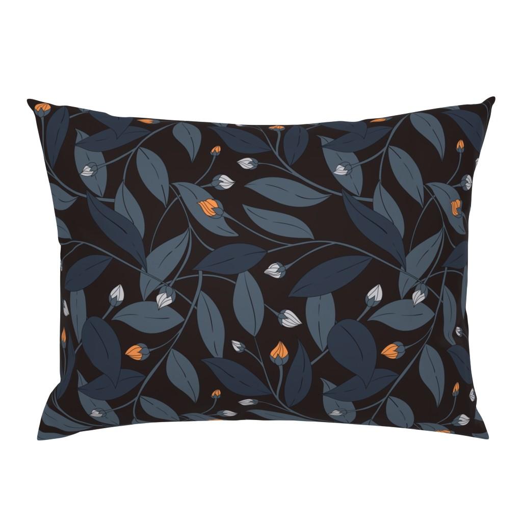 Campine Pillow Sham featuring Bloom in dark by doodlena