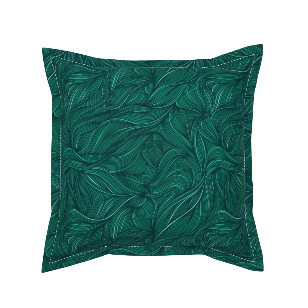 Serama Throw Pillow featuring Flowing by doodlena