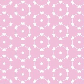 pink and white hearts and flowers sm
