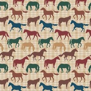 Horses Plaid Multicolor Small
