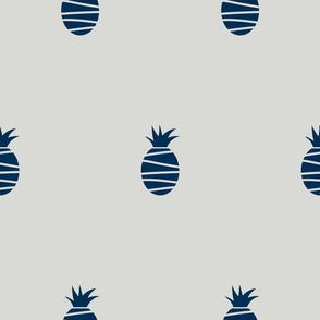 gray midnight blue pineapples
