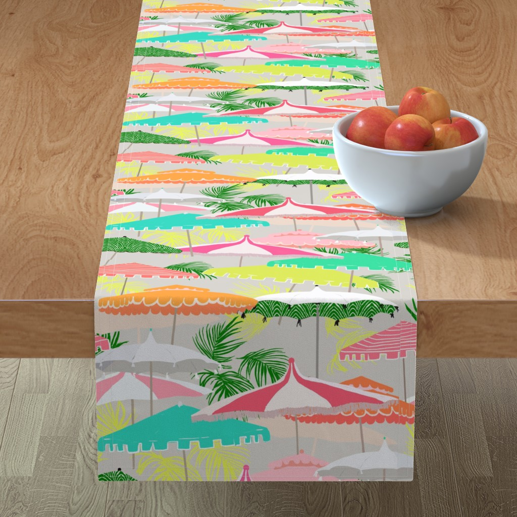 Minorca Table Runner featuring Poolside by alison_janssen