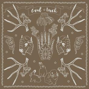 Good Luck Bandana brown