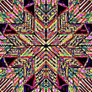 multicolored pysanky star