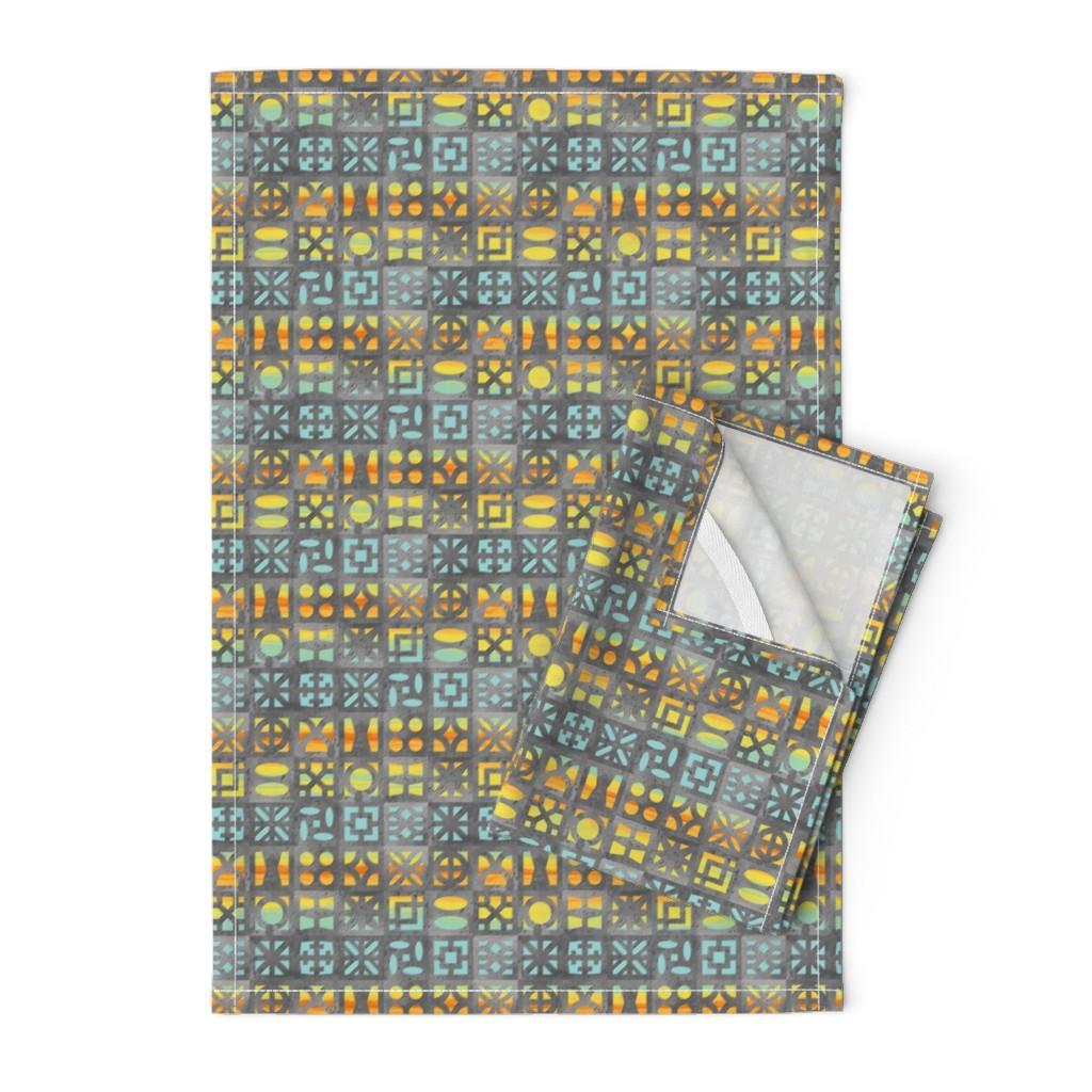 Orpington Tea Towels featuring Desert Breeze Blocks of Phoenix by m_harrison_design