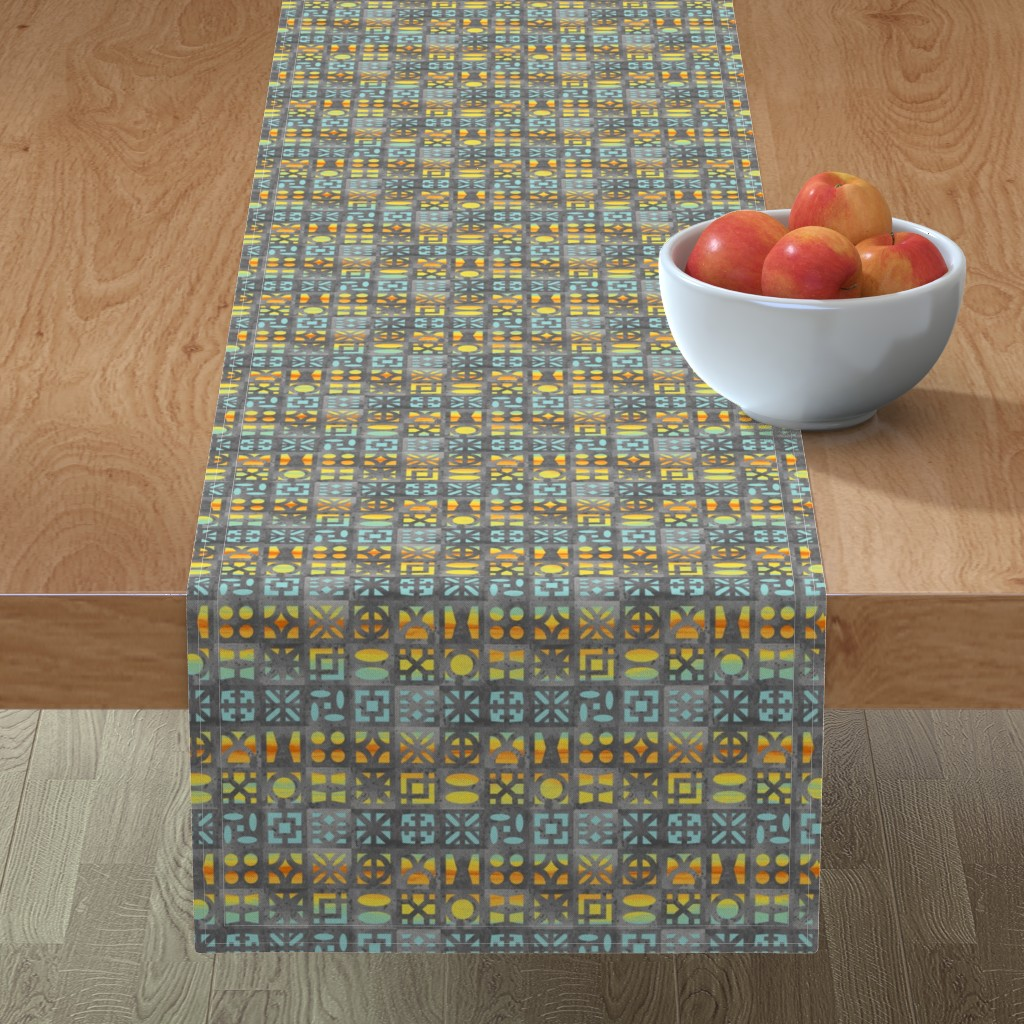 Minorca Table Runner featuring Desert Breeze Blocks of Phoenix by m_harrison_design