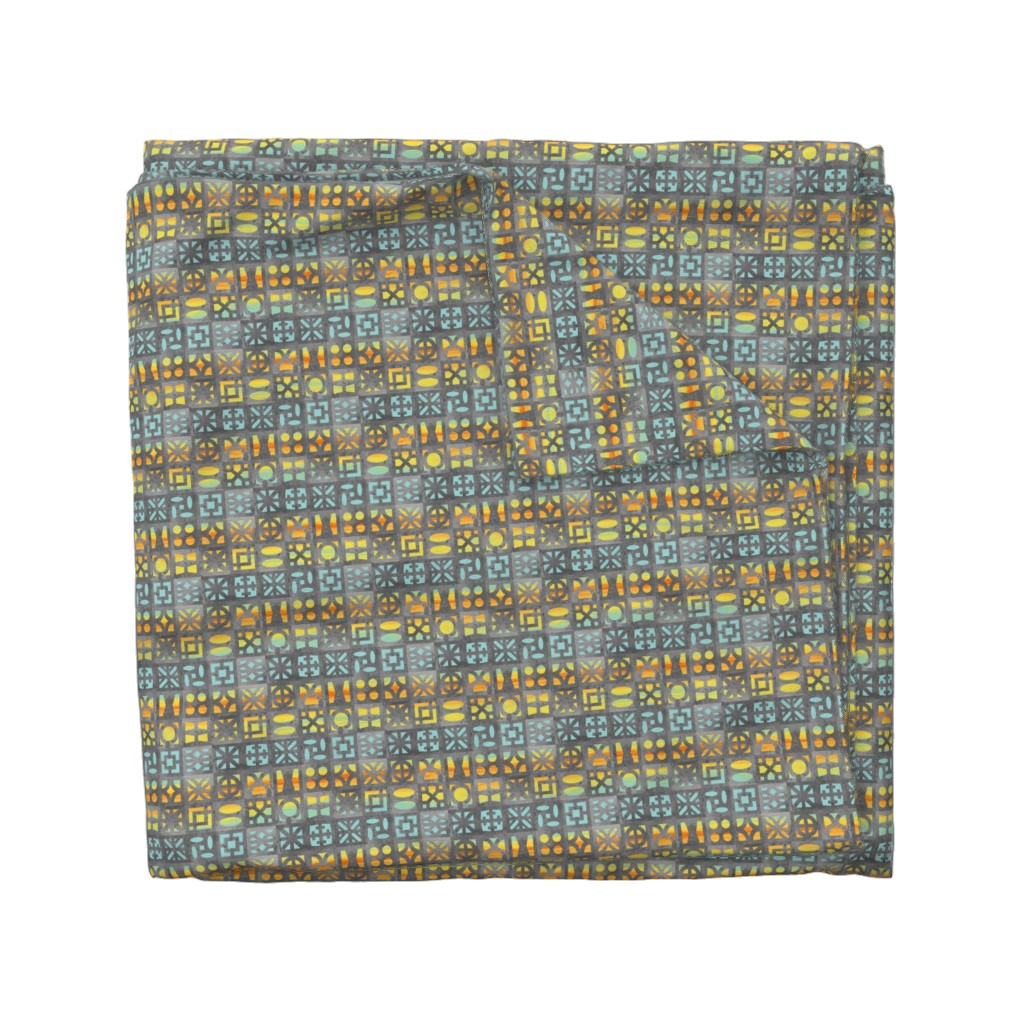 Wyandotte Duvet Cover featuring Desert Breeze Blocks of Phoenix by m_harrison_design