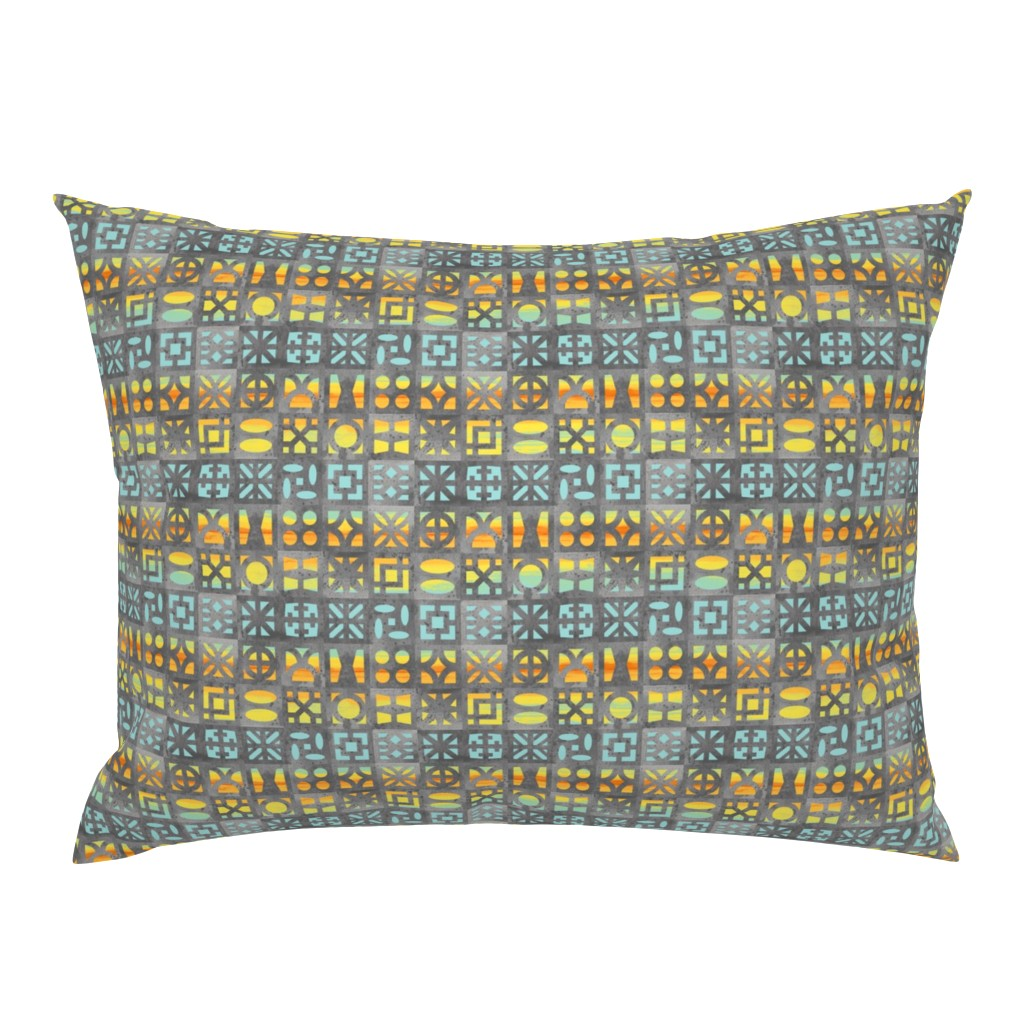 Campine Pillow Sham featuring Desert Breeze Blocks of Phoenix by m_harrison_design