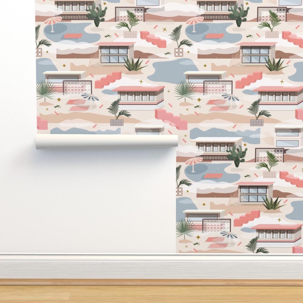 Isobar Durable Wallpaper featuring Modern Oasis / Desert Modernism by matise