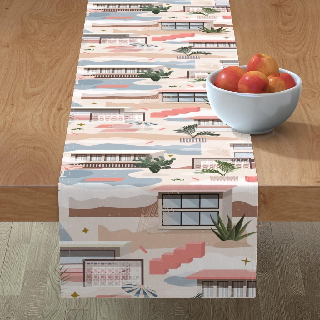 Minorca Table Runner featuring Modern Oasis / Desert Modernism by evamatise